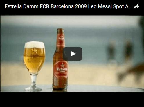 Anuncios de Estrella Damm y FC Barcelona
