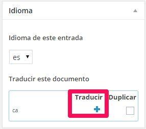 Tutorial wpml web multi-idioma: El bloque de Idioma