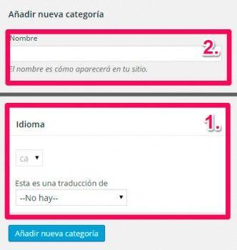 Tutorial wpml web multi-idioma: Traducción de categorías