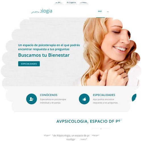 Web corporativa Avpsicologia.com