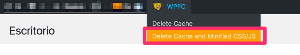 Refrescar cache de la web